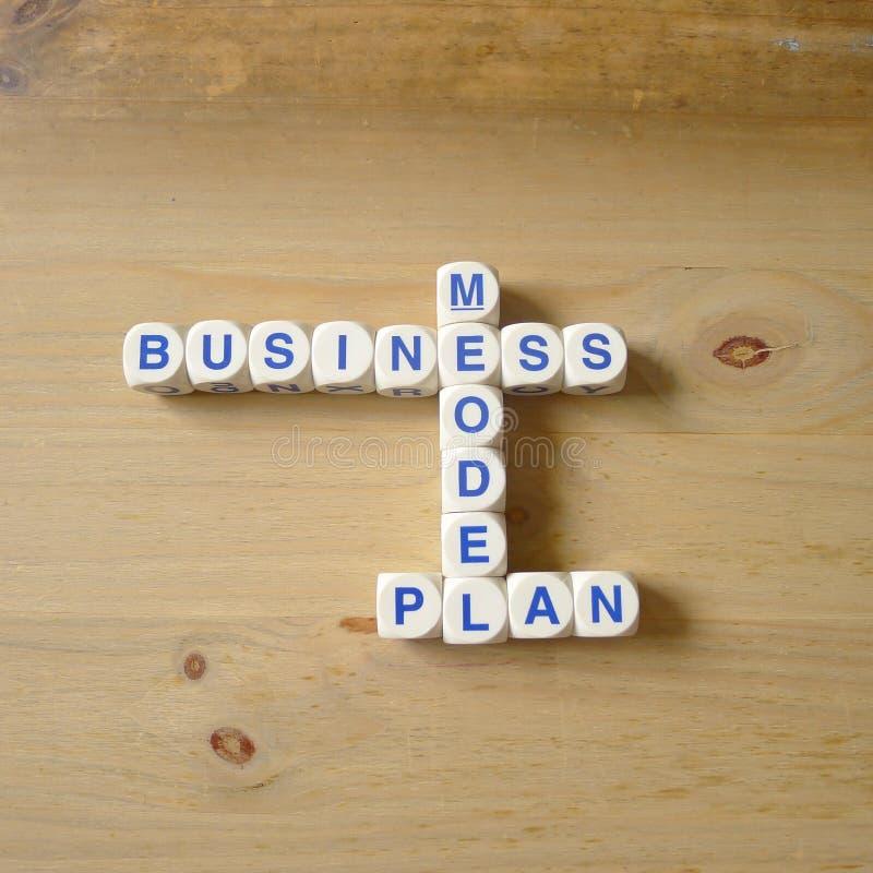 Plan för affärsmodell arkivbild