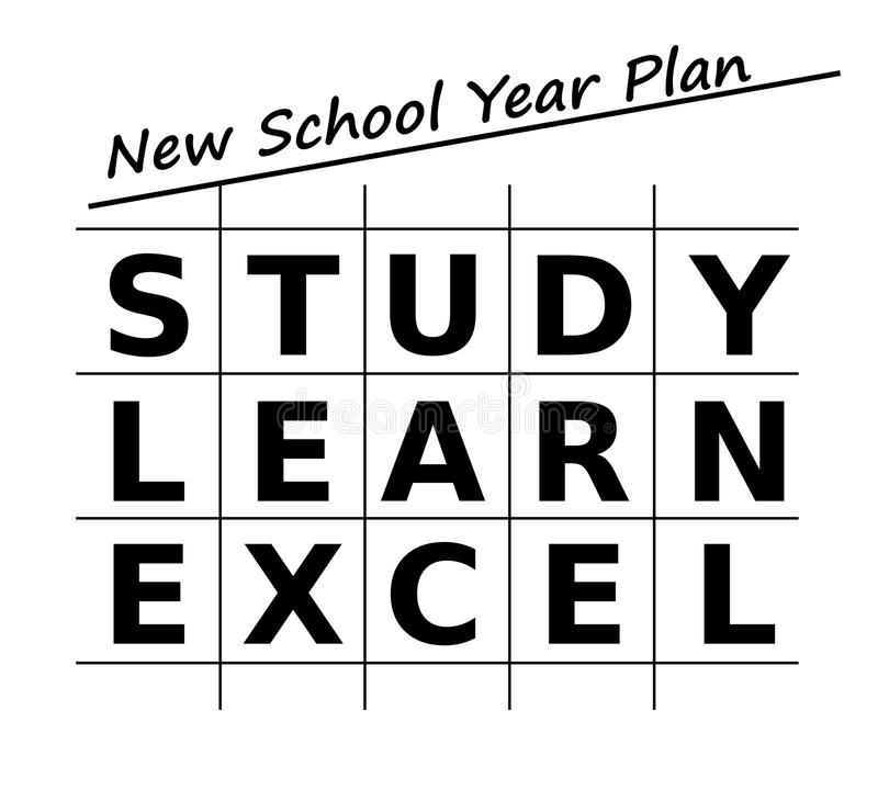 Plan för framgång i det nya skolåret stock illustrationer