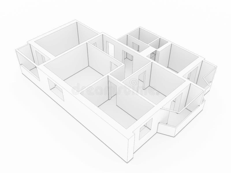plan för golv 3d â2 vektor illustrationer