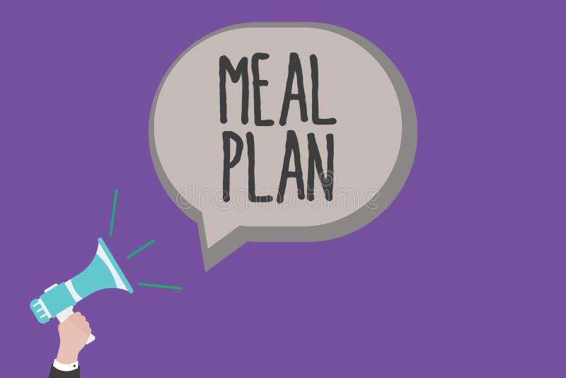 Plan för handskrifttextmål Menande ordningsintrig för begrepp av vad ska äta den nästa veckamånaden stock illustrationer