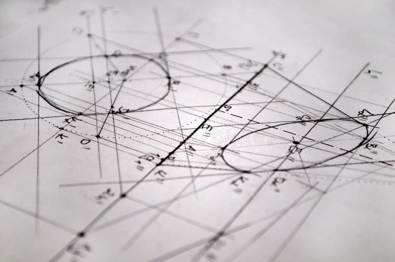 Plan för konstruktion som göras med rapidographs arkivbilder
