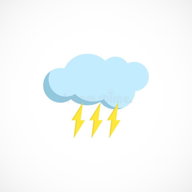 Plan förutsedd symbol av ett regnigt väder på vit vektor illustrationer