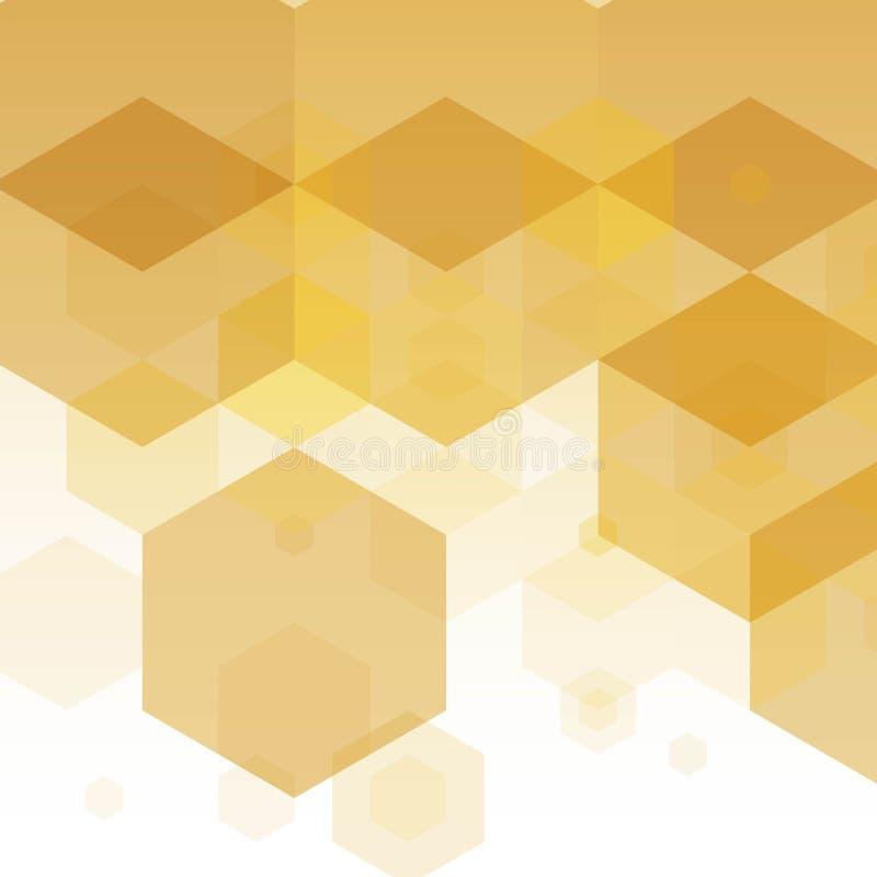 Plan für die Werbung, Schablone für die Marke Idee für Geschäft, Entwurf, Dekoration Goldene, gelbe, braune Schatten ENV vektor abbildung