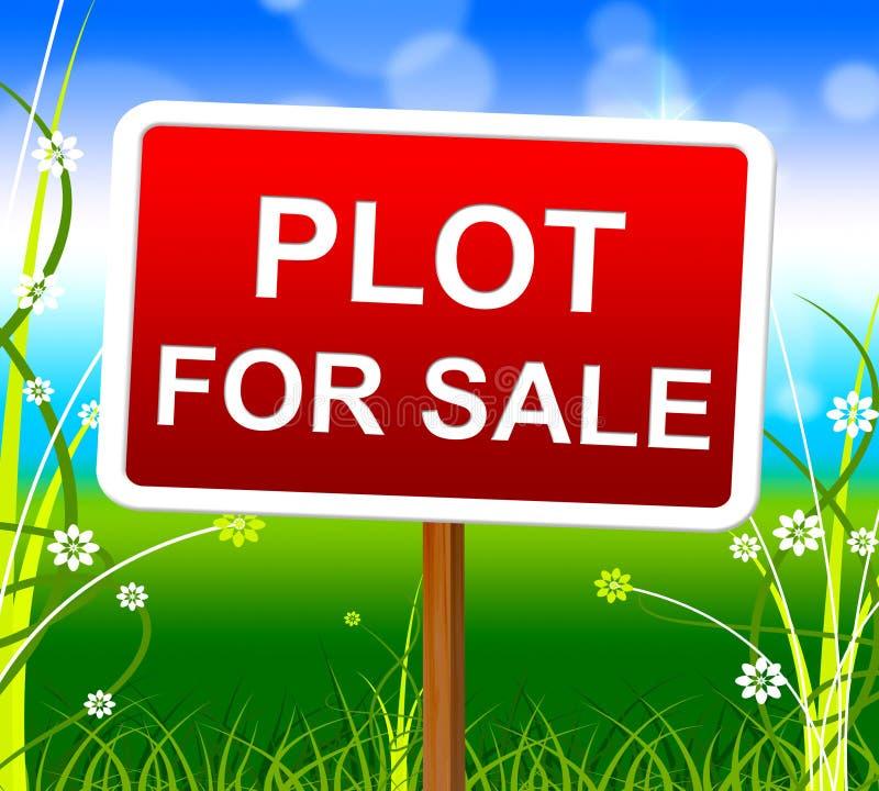 Plan für Verkauf stellt Immobilienagentur And Lands dar lizenzfreie abbildung