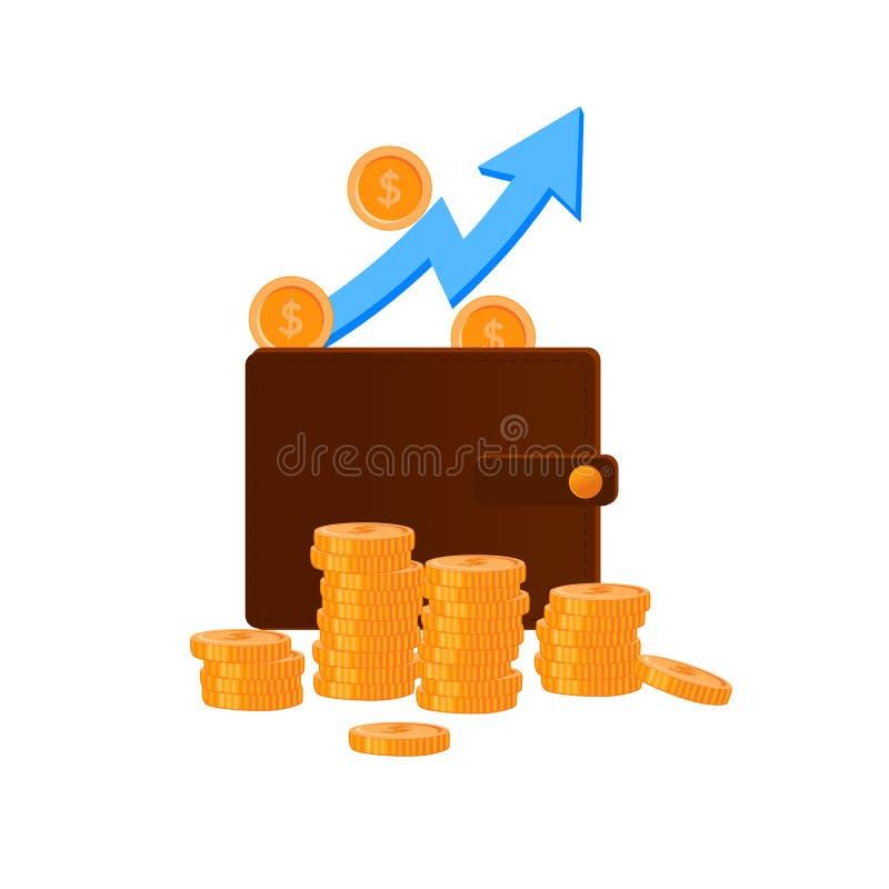 Plan f?r ekonomivinst Rikedombest?ndsdelar E vektor illustrationer