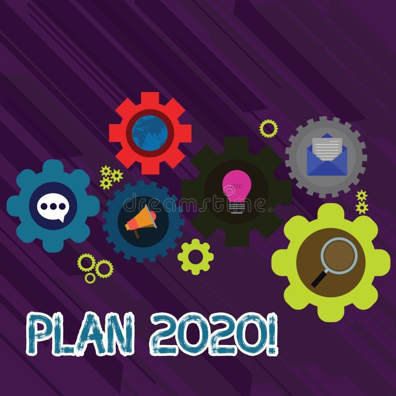 Plan 2020 f?r textteckenvisning E stock illustrationer