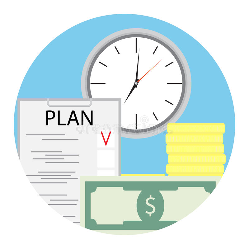 Plan finance for business royalty free illustration