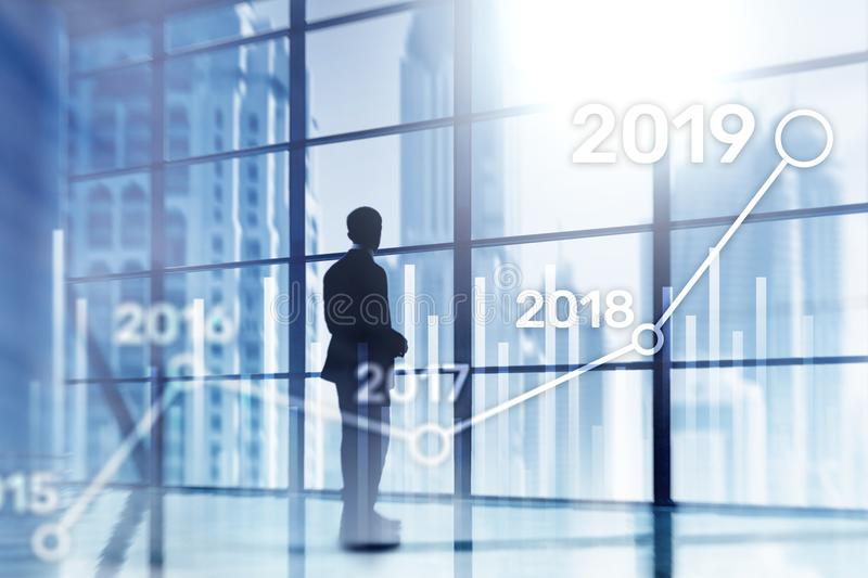 2019 Plan for Financial growth. Business and investment concept.  stock photography