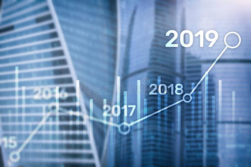 2019 Plan for Financial growth. Business and investment concept.  royalty free stock image