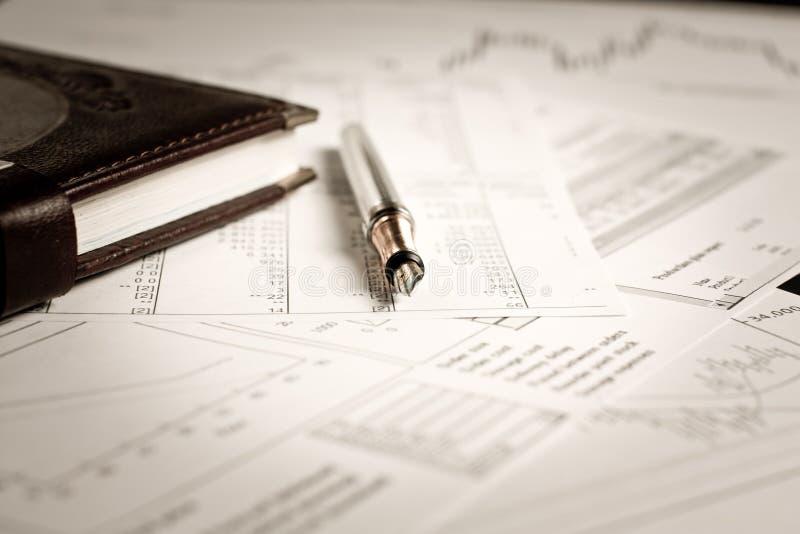 Plan financier d'affaires images libres de droits