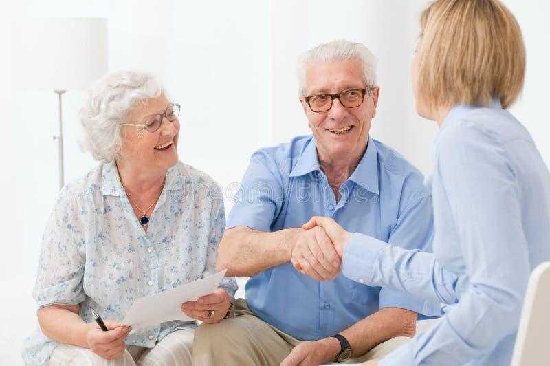 Plan financier pour la retraite images libres de droits
