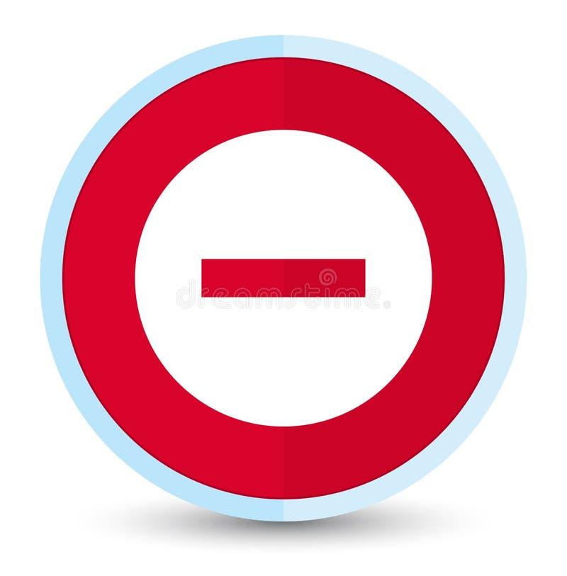 Plan främsta röd rund knapp för annulleringssymbol vektor illustrationer