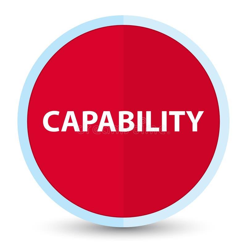 Plan främsta röd rund knapp för kapacitet royaltyfri illustrationer
