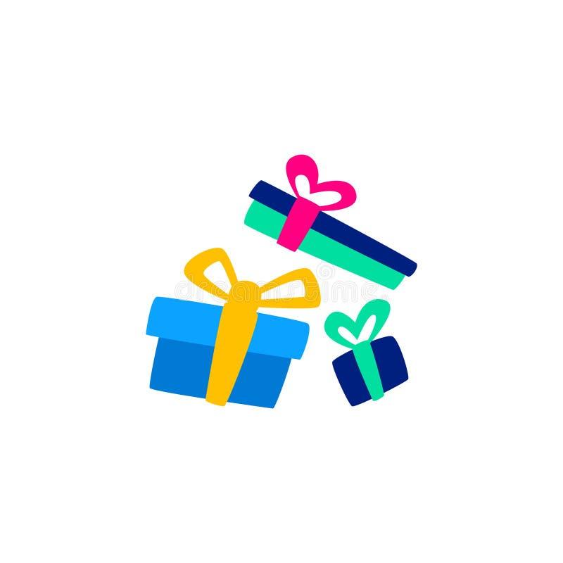Plan gåvagåva för vektor Förpacka för ferie stock illustrationer