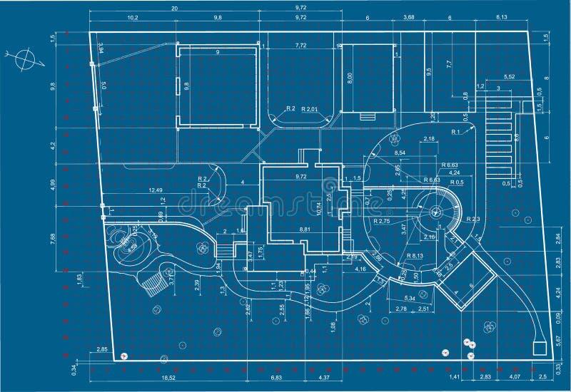 Plan of garden land royalty free stock photo