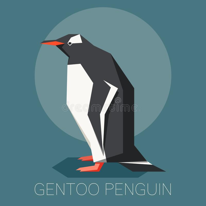 Plan gentoopingvin vektor illustrationer