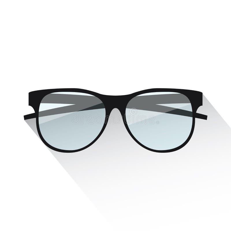 Plan glasögonvektorillustration på vit vektor illustrationer