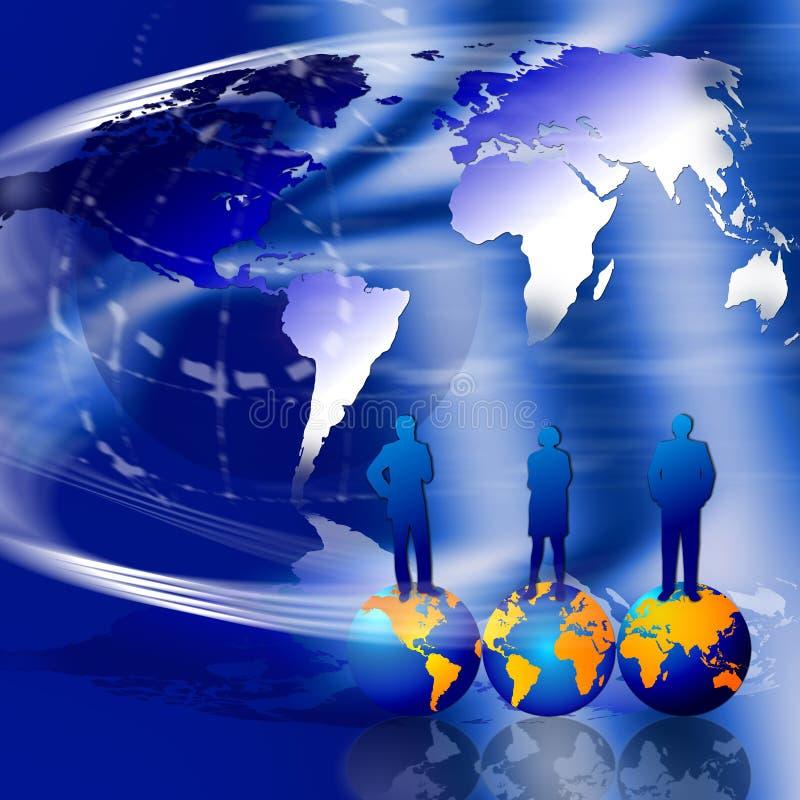 Plan global de comercialización ilustración del vector