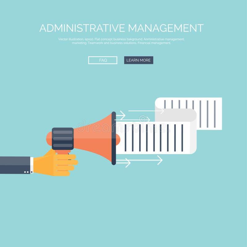 Plan högtalaresymbol Begrepp för administrativ ledning Affärssyften och lösningar stock illustrationer
