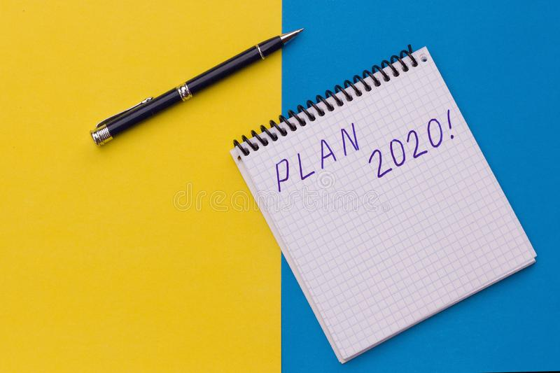 Plan 2020 Handwriting text plan 2020 - business concept stock photo