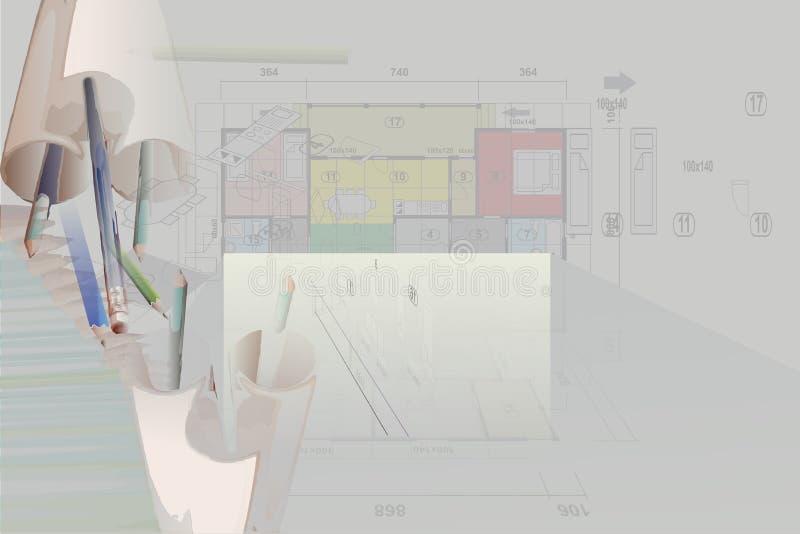 Plan house stock illustration