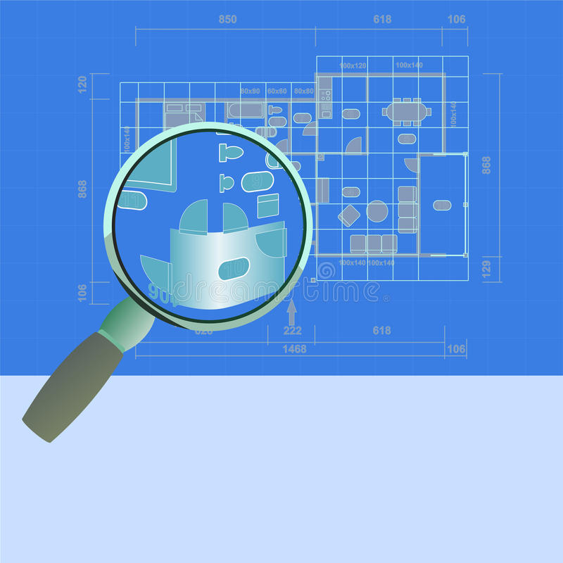 Download Plan house zoom stock vector. Image of construct, architect - 12161638