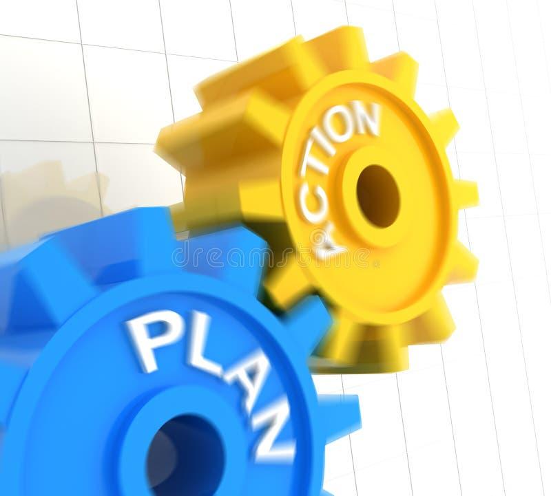 Plan i akcja ilustracja wektor