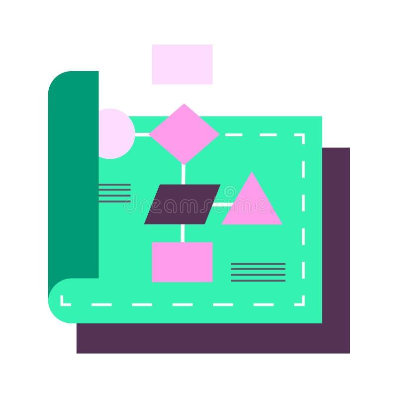 Plan illustration för flödesdiagram royaltyfri illustrationer