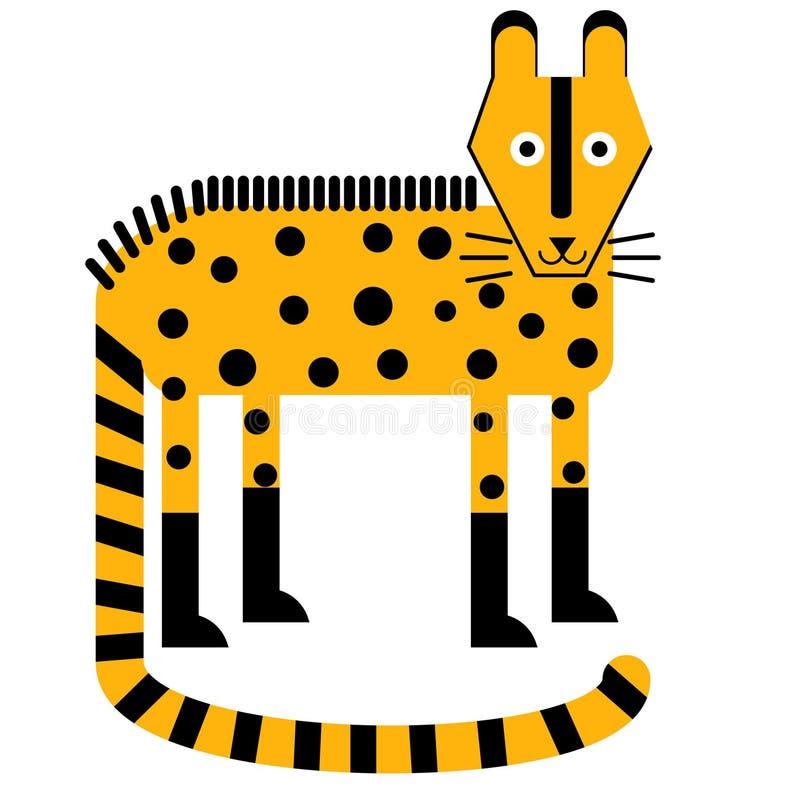 Plan illustration för hyena vektor illustrationer