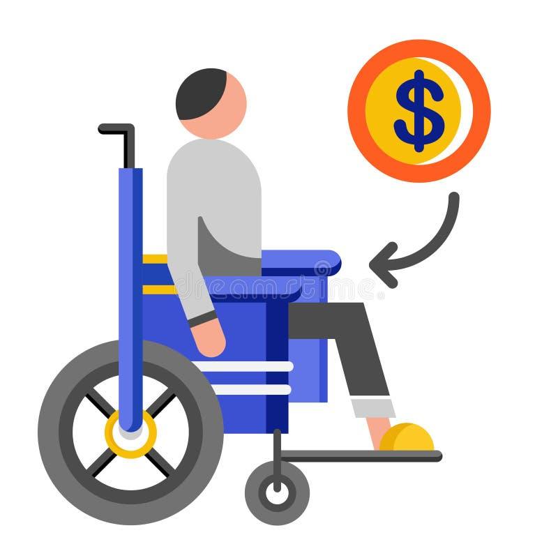 Plan illustration för invaliditetfördel stock illustrationer