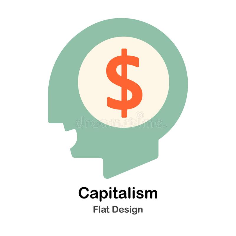 Plan illustration för kapitalism vektor illustrationer