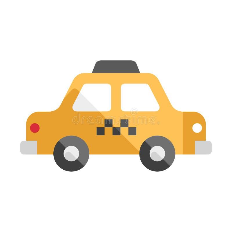 Plan illustration för taxi royaltyfri illustrationer