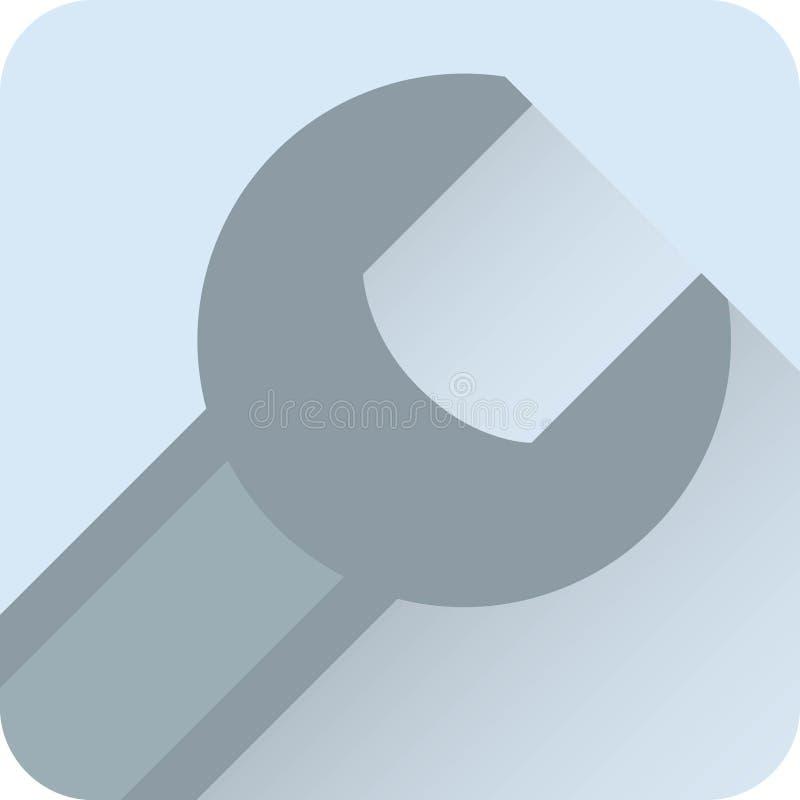 Plan illustration för vektorsymbolsskiftnyckel arkivbilder