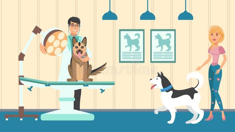 Plan illustration för veterinär- tidsbeställningsvektor vektor illustrationer