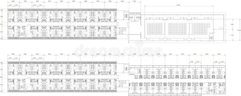 Plan Intérieur De Dessin D'Appartement Résidentiel Illustration