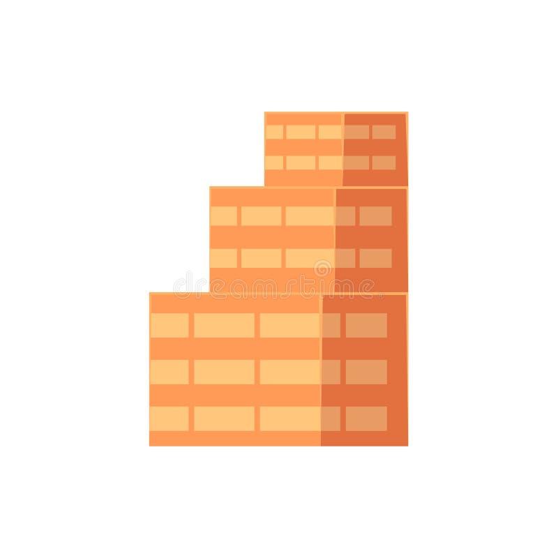 Plan isometrisk flervånings- mång--varvad byggnad royaltyfri illustrationer