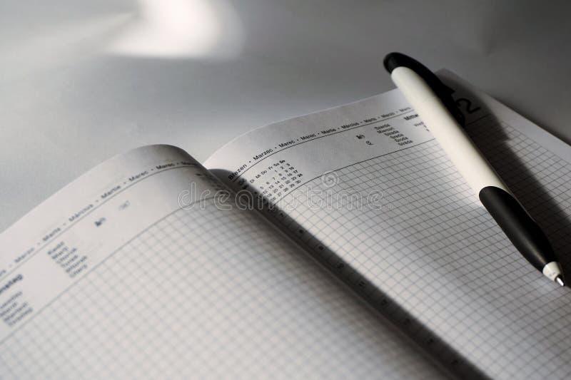 Plan, Kalendarz, Data zdjęcia stock