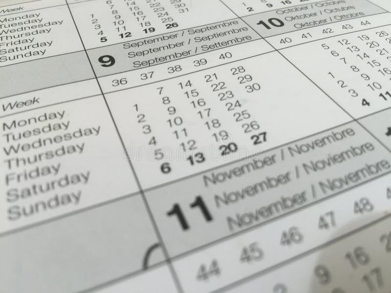 Plan, Kalendarz, Daty zdjęcia stock