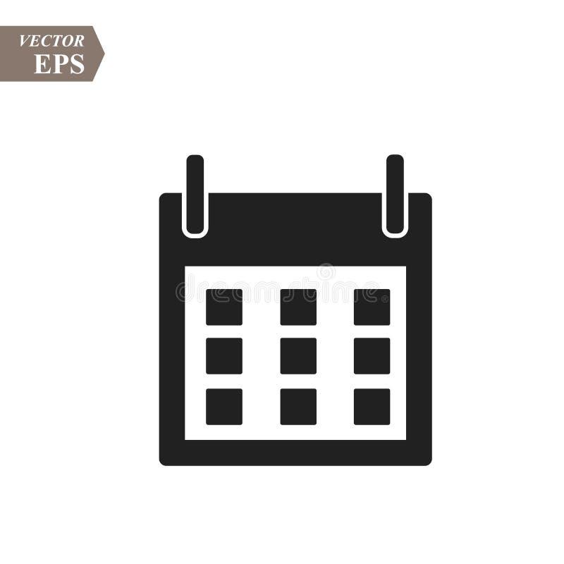 Plan kalendersymbol Kalender på väggen också vektor för coreldrawillustration royaltyfri illustrationer