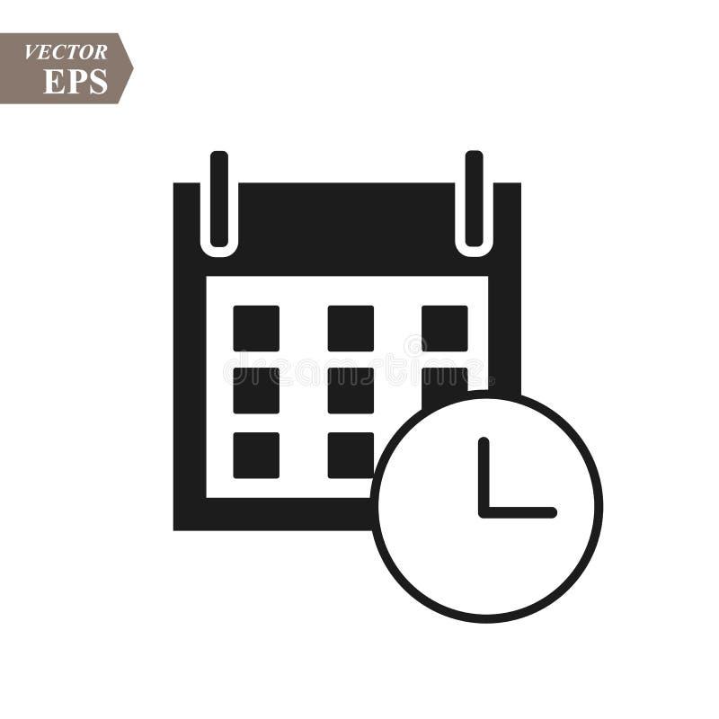 Plan kalendersymbol Kalender på väggen också vektor för coreldrawillustration EPS10 vektor illustrationer
