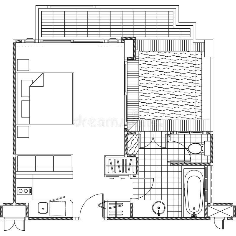 Plan konstruktionsplanvektor vektor illustrationer
