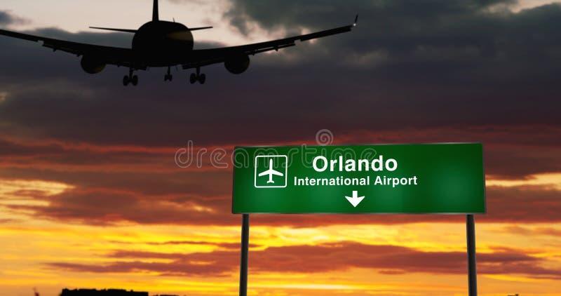 Plan landning i Orlando Florida royaltyfria foton