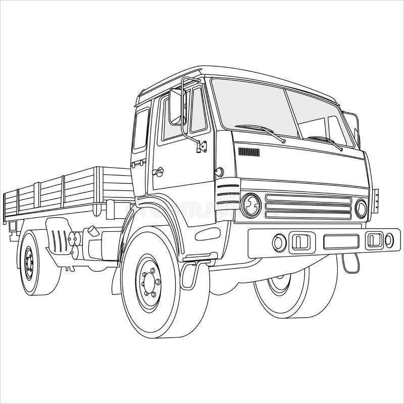 plan lastbil för underlag royaltyfri illustrationer