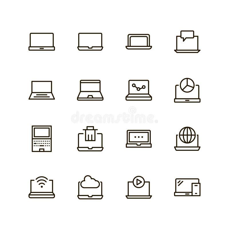 Plan linje symbol royaltyfri illustrationer