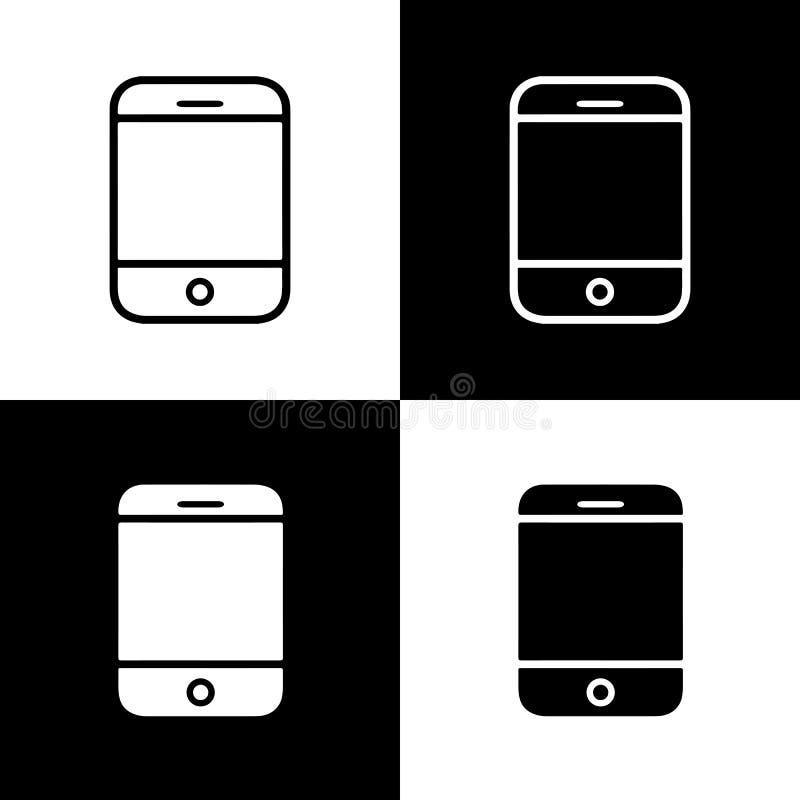 Plan linje uppsättning för vektormobiltelefonsymbol royaltyfri illustrationer