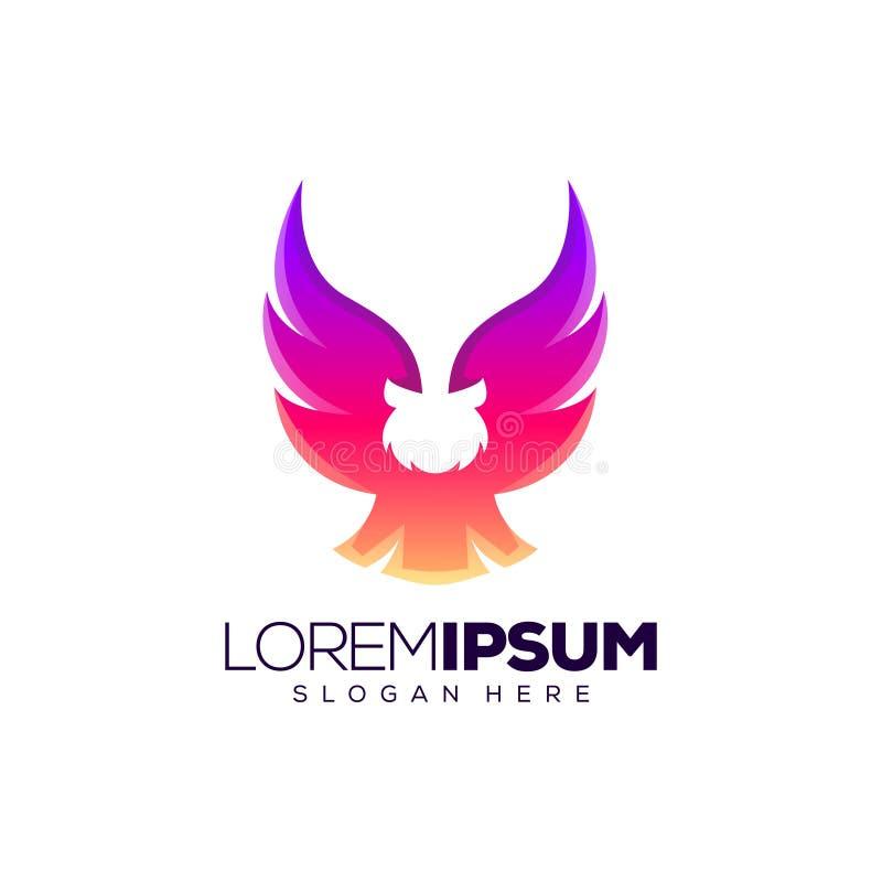 Plan logo design vector illustration. Owl logo design vector illustration ready to use royalty free illustration