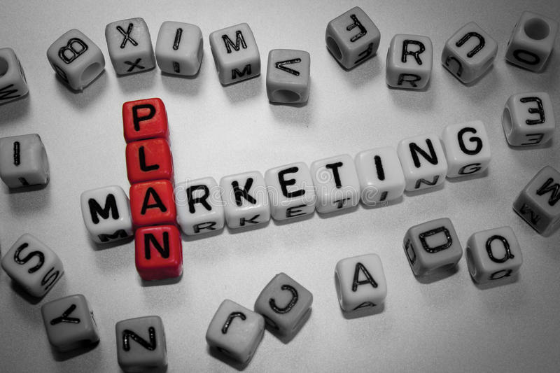 Plan marketing photos stock