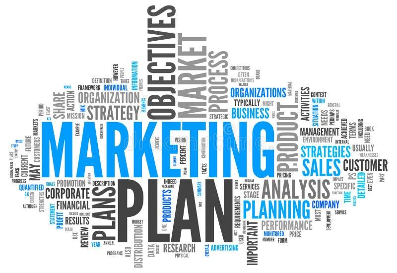 Plan marketing de nuage de Word illustration de vecteur