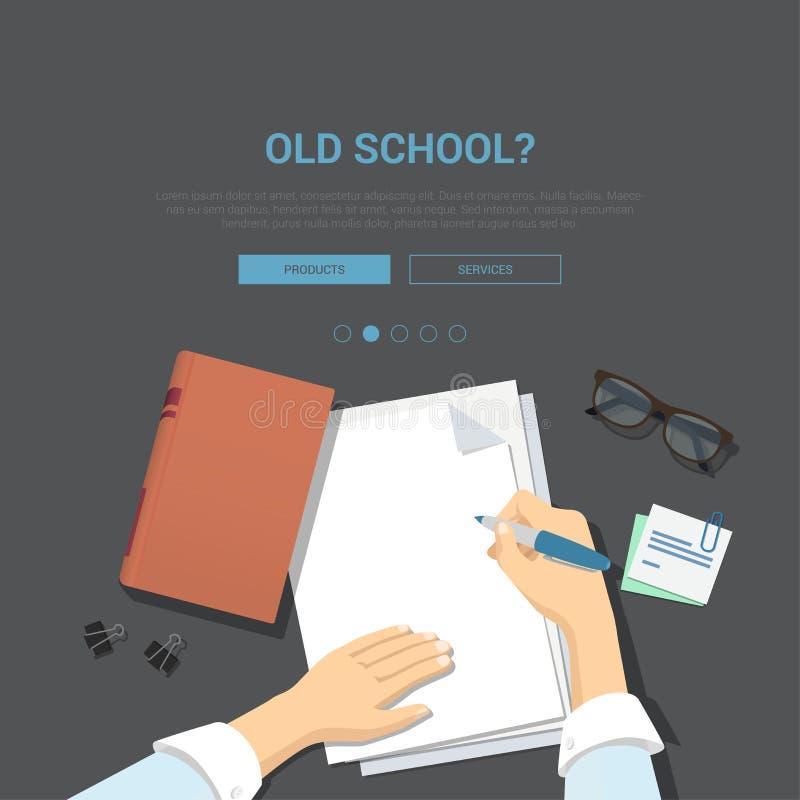 Plan modellmall för klassikerarbetsplats för bästa sikt vektor illustrationer