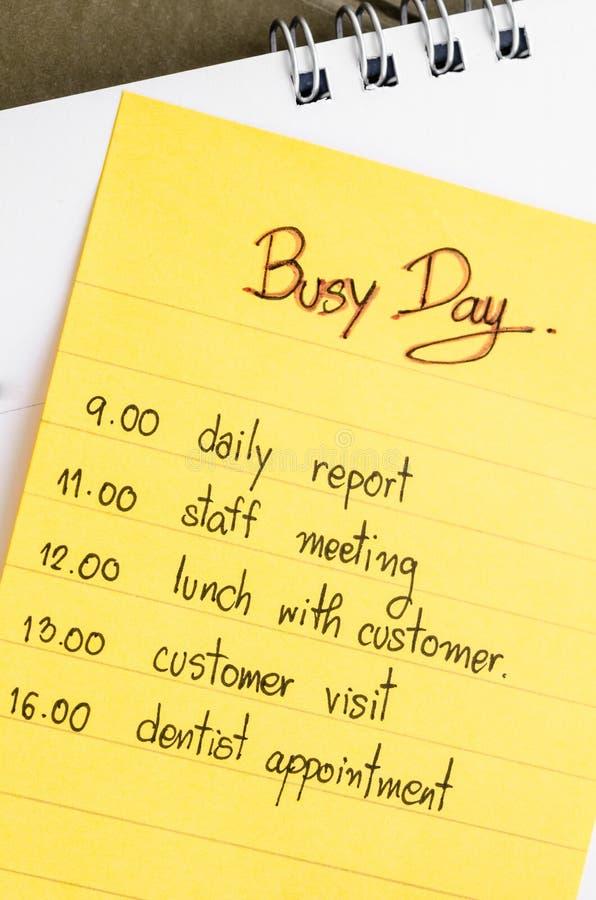 Plan occupé de jour images stock